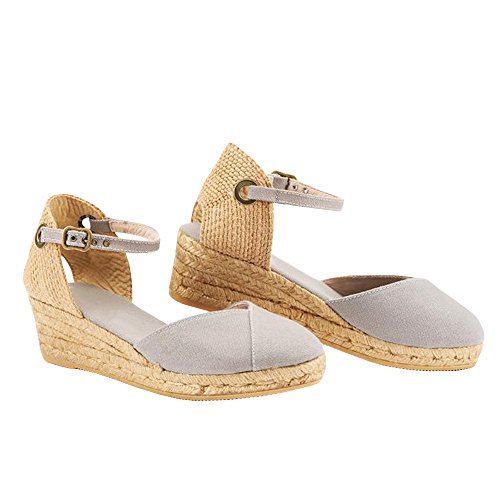 f6b62bbb3c13d Pxmoda Womens Summer Espadrille Wedge Sandals Fashion Strap Buckle Suede  Platform Shoes - Buy Online in Oman.