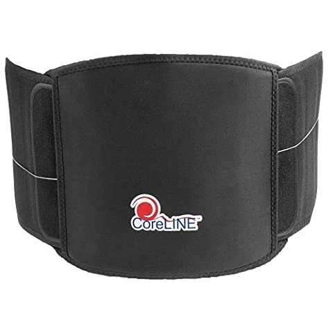 CoreLINE Rigid Lumbar Belt Back Brace for Lumbar Support Pain Relief and Support (5X-Large) (Lumbar Brace 5x)