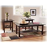 Contemporary 3 Pc Coffee End Table Set Living Room Tables