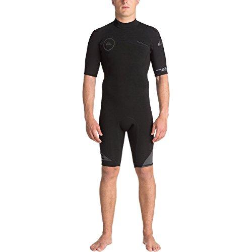 Quiksilver 2mm Syncro Back Zip FLT Men's Shorty Wetsuits - Black/Black/Jet Black/X-Large ()