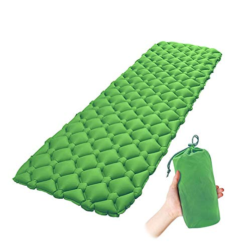 Mockins Green Extra Light Inflatable Sleeping Pad The Air Camping Mat is Great for Backpacking Traveling and Hiking with Added Comfort Air Cell Design … … … …