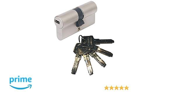 Abus EC550 - Bombín cilíndrico de doble embrague (30 x 40 mm, incluye 5 llaves): Amazon.es: Bricolaje y herramientas