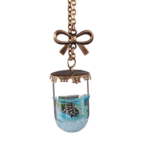 Fashion Water Conch Drifting Bottle Heart Pendant Necklace - Cheap Stuff (B) ()