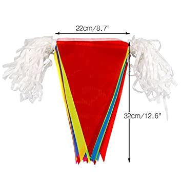 Multi-color Banners Perfect Decorations for Festival Party Celebration Events Outdoor Nylon Bunting Flags G2PLUS 9.6M Rainbow Bunting Gay 1 PCS