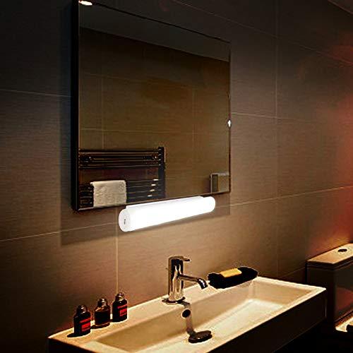 BXROIU LED Night Light Motion Sensor USB Rechargeable, Sensor Wardrobe Lighting for Room, Hallway, Basement, Garage, Closet (Warm White)