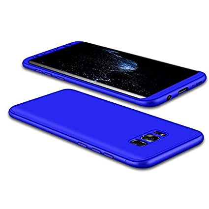 JMGoodstore Funda Galaxy S8,Carcasa Samsung S8,Funda 360 Grados Integral para Ambas Caras+Cristal Templado,[ 360°] 3 in 1 Slim Fit Dactilares ...