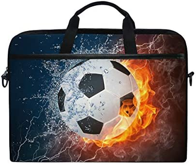 LOSNINA 15-15.6 Inch Bolsa de Ordenador,Balón de fútbol en Llamas ...