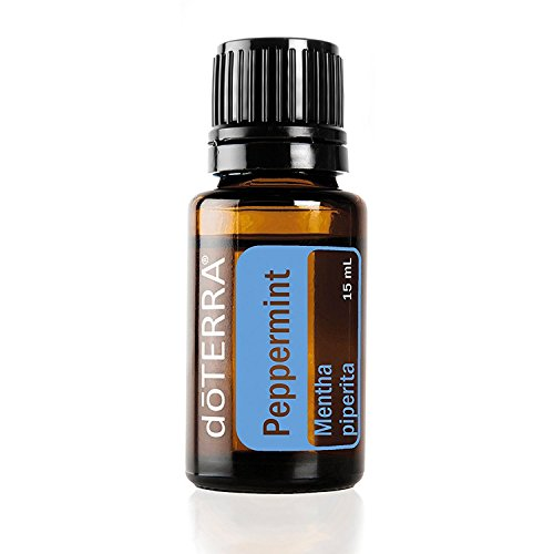 doTERRA Peppermint Essential Oil - Promotes Clear Breathing, Healthy Respiratory Function, and Digestive Health; For Diffusion, Internal, or Topical Use - 15 ml from doTERRA