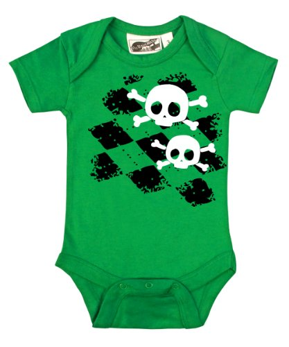 Argyle Skull Kelly Green One Piece 12-18 Months from My Baby Rocks