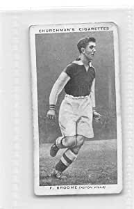 Frank Broome - Aston Villa FC 1938 Churchman Cigarettes Association Footballers #3 (GOOD) light crease