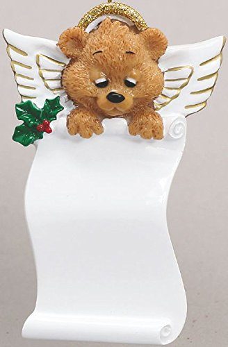 Memorial Bear Angel Personalized Christmas Ornament-Free Personalization and Gift Bag! ()