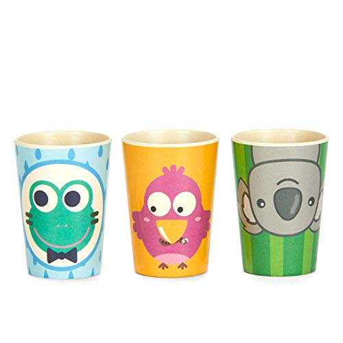 Coocootsa Drinking Cup Set for Kids - 3-Piece Colorful Toddler Cups Set - Frog, Koala and Bird Funny - http://medicalbooks.filipinodoctors.org