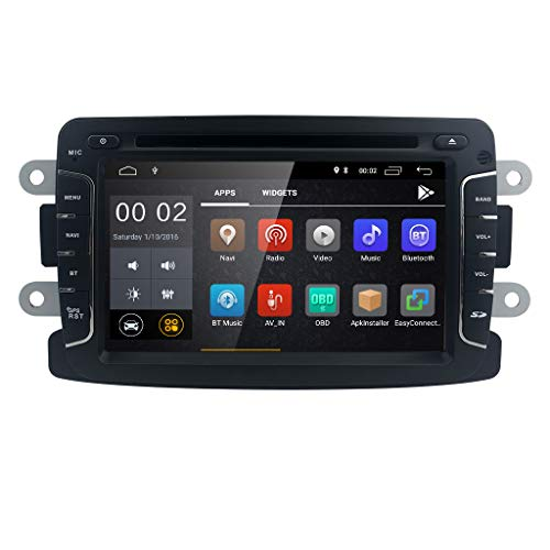 Android 8.1 Quad Core 7 inch 1 Din IPS Touch Screen Car DVD Player for Renault Dokker Dacia Duster Logan Sandero with Autoradio GPS Navigation Radio Stereo Bluetooth SD USB Mirror Link