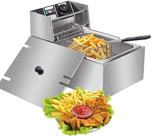 FROTH & FLAVOR Stainless Steel Electric Deep Fryer (Silver) 6 Litre with Copper Element 2
