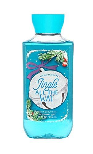 Lot of 3 Bath & Body Works Jingle All The Way Shea & Vitamin E Shower Gel 10 fl oz each (Jingle All The Way)