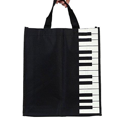 ammoon Piano Keys Music Handbag Tote Shopping Bag Gift