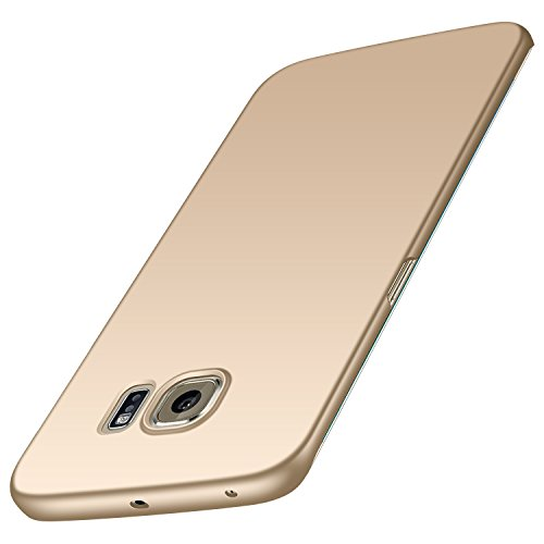 Anccer Samsung Galaxy S6 Edge Case [Ultra-Thin] [Anti-Stain] [Anti-Drop] Premium Material Slim Full Protection Cover (Not for Galaxy S6) (Gold)