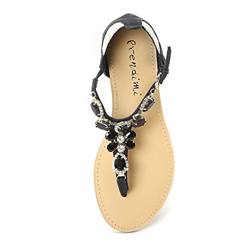 PRENDIMI by Scarpe&Scarpe - Sandalias bajas con piedras Negro