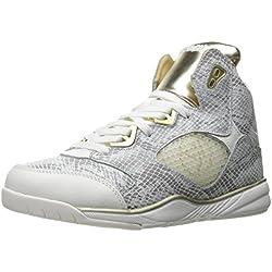 Zumba Women's Energy Boom Dance Shoe, White/Gold, 6.5 M US