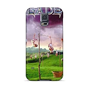 SherriFakhry Samsung Galaxy S5 Scratch Protection Mobile Covers Unique Design HD Megadeth Band Pattern [KuF12354fbLL]