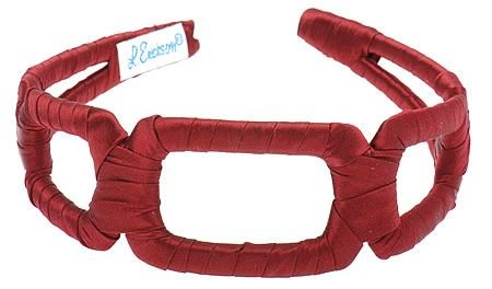 L. Erickson USA Italian Links Headband - Merlot by L. Erickson USA (Image #4)