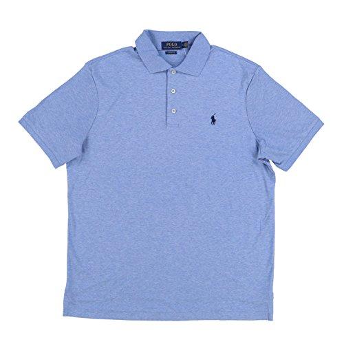 Polo Ralph Lauren Mens Classic Fit Polo Shirt (M, Light Blue Heather)]()