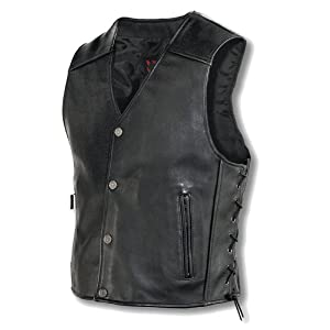 Milwaukee Motorcycle Clothing Company M349M Mens Joker Vest (Black, Medium)