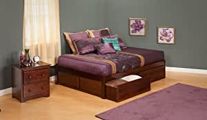 Atlantic Furniture Concord Flat Panel Daybed in Antique Walnut