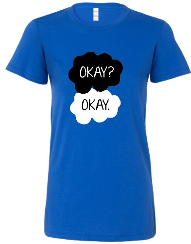 Medium Royal Blue Juniors Okay. Okay. T-Shirt