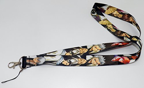 Anime-Bleach-Toshiro-Characters-Fabric-Phone-Key-Chain-LANYARD