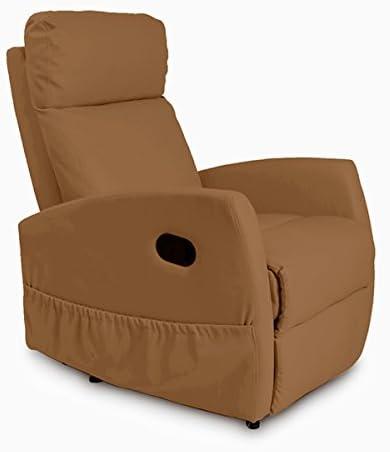 Sillón Relax de Masaje Compact, Función calor, 5 Programas, 3 Intensidades, 8 Motores, Mando de control, Polipiel de calidad, Bolsillo...