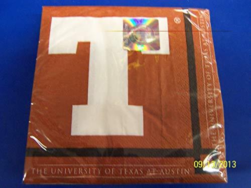 Texas Longhorns NCAA Napkins Football Game Day Sports
