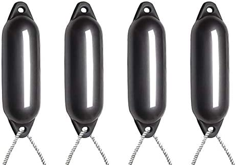Inflated Size 2 With Free Rope Majoni 4 X Anthracite Quality Boat Fender