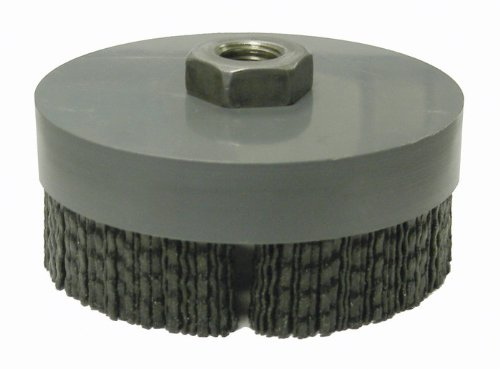 Weiler Ceramic Cup Brush - Threaded Arbor Attachment - 4 in Dia 5/8-11 Center Hole - 0.049 x 0.098 in Bristle Dia & 4800 Max RPM - 86160 [PRICE is per EACH] by Weiler