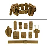 ultimate arms gear belt - Ultimate Arms Gear FDE Flat Dark Earth Tan 10pc Police-Law Enforcement-Security Gear Modular Nylon Duty Belt With Pistol/Gun Holster Fits Springfield Armory XD XDS XDM Handgun