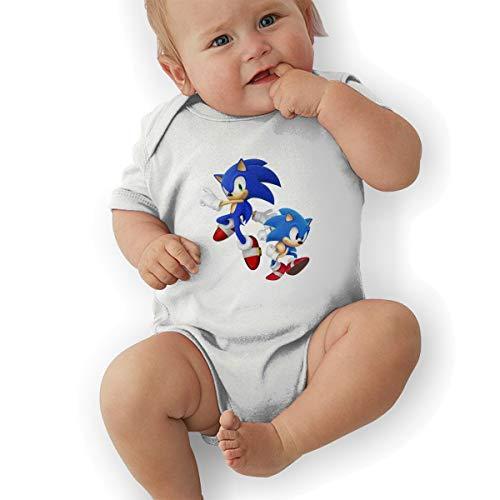 PopNoun Babys Sonic Hedgehog Comfortable Short Sleeve Jumpsuit Outfits 18M ()