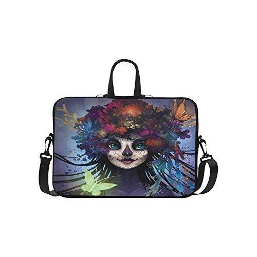 InterestPrint Sugar Skull Laptop Sleeve Case Bag, Butterfly
