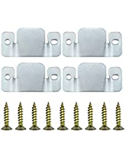 Dreamtop 4pcs Universal Metal Sectional Sofa Interlocking Furniture Connector Bracket with Screws