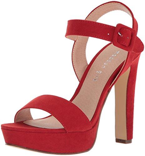 Madden Girl Women's Rolloo Heeled Sandal Red Fabric find great online FlSzZ