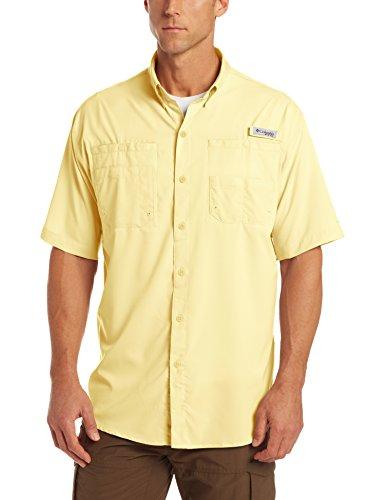 (Columbia Men's Tamiami II Short Sleeve Fishing Shirt, Sunlit, LT)