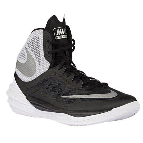 new concept 4e397 7d8c5 Nike Mens Prime Hype DF 2016 Basketball Shoes Black/Silver ...