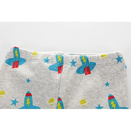 PRETCFTB Baby Boys Pajamas Pants Children Blue Sleepwear Toddler Dinosaur Clothes Cotton Kids PJs