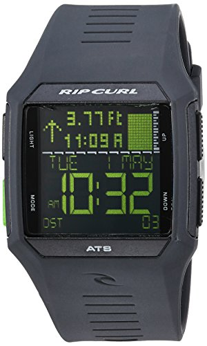 (Rip Curl Men's Rifles Quartz Sport Watch with Polyurethane Strap, Grey, 26 (Model: A1119-BKN) )