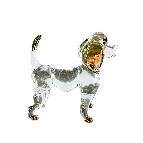Factory Cat Pipe (Sansukjai Dog Figurines Animals Hand Blown Glass Art Gold Trim Collectible Gift Decorate)