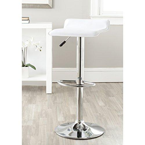 Safavieh Home Collection Sheba White Adjustable Swivel Gas Lift 22.4-30.7-inch Bar Stool (Collection 24 Stool Bar)