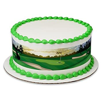 Golf Birthday Peel STick Edible Cake Topper Decoration For