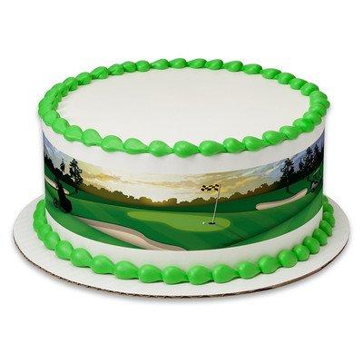 Golf Birthday Peel & STick Edible Cake Topper