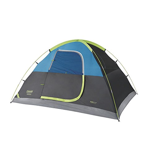 Coleman 4-Person Dark Room Sundome Tent, Green/Black/Teal
