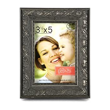 4c684f84cf6f Amazon.com - Green Tree Gallery Pewter Wood Scroll Patterned Frame ...