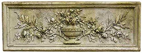 OrlandiStatuary FS7285 Rose Urn Relief 33 W Garden Statue, Pompeii